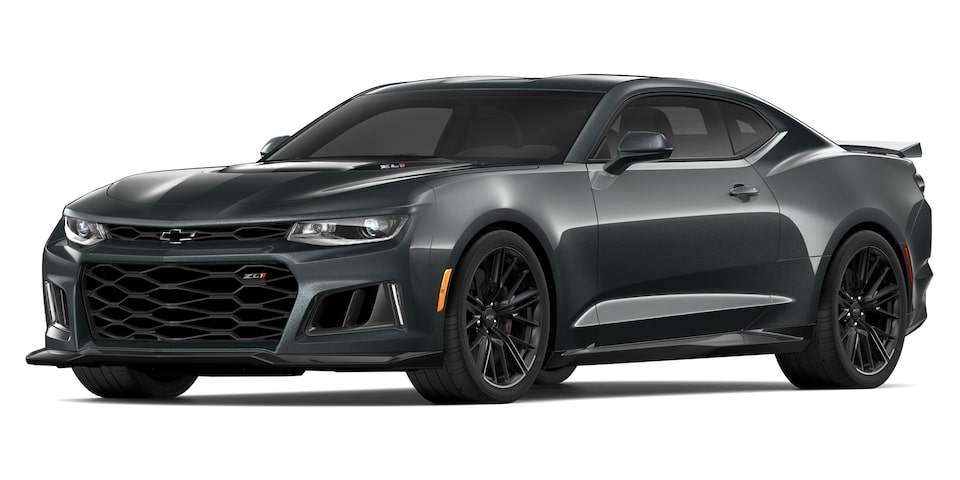 Chevrolet Camaro ZL1 2020, deportivo convertible en color shadow gray